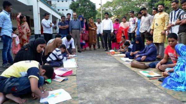 হবিগঞ্জে চিত্রাঙ্কন প্রতিযোগিতা