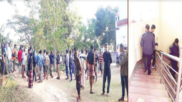 রেজা কিবরিয়ার বাসায় পুলিশের তল্লাশী, লাঠিসোটা নিয়ে গ্রামবাসীর অবস্থান