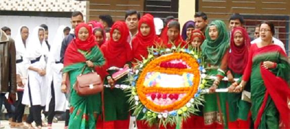 নবীগঞ্জের আউশকান্দিতে বিশাল র্যালী ও শহীদ মিনারে শ্রদ্ধাঞ্জলী অর্পন
